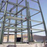 سازه فلزی ساختمان برج کار کارخانه صنایع غذایی رشد